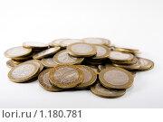 Кучка десятирублевых монет. Стоковое фото, фотограф Ипполитов Александр / Фотобанк Лори