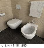 Купить «3D-интерьер ванной комнаты в современном стиле», иллюстрация № 1184285 (c) Майер Георгий Владимирович / Фотобанк Лори