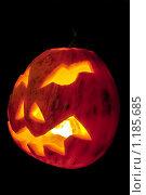 Тыква для Хэллоуина. Стоковое фото, фотограф Андрей Сучков / Фотобанк Лори