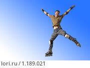 Купить «Прыжок роллера», фото № 1189021, снято 30 сентября 2007 г. (c) Бабенко Денис Юрьевич / Фотобанк Лори