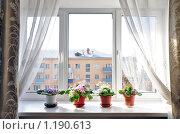 Купить «Окно в солнечный  день», фото № 1190613, снято 30 октября 2009 г. (c) Геннадий Соловьев / Фотобанк Лори