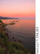 Купить «Закат на море», фото № 1194301, снято 14 сентября 2005 г. (c) Бабенко Денис Юрьевич / Фотобанк Лори