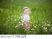 Купить «Радостный малыш в поле», фото № 1198325, снято 17 июля 2008 г. (c) Владимир Сурков / Фотобанк Лори