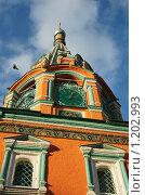 Колокольня церкви Георгия Неокесарийского в Москве (2009 год). Стоковое фото, фотограф Миленин Константин / Фотобанк Лори