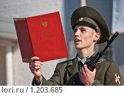 Купить «Принятие военной присяги», фото № 1203685, снято 6 сентября 2009 г. (c) Соловьев Владимир Александрович / Фотобанк Лори