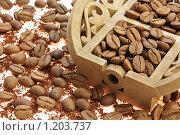 Зерна кофе. Стоковое фото, фотограф Елена Гришина / Фотобанк Лори