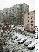 Машины под снегом (2009 год). Редакционное фото, фотограф Корчагина Полина / Фотобанк Лори