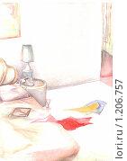Спальня. Стоковая иллюстрация, иллюстратор Мария Веселова / Фотобанк Лори