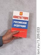 Купить «Конституция России», фото № 1209033, снято 12 ноября 2009 г. (c) Александр Секретарев / Фотобанк Лори