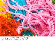 Купить «Нитки для вязания разных цветов и видов», фото № 1210613, снято 8 ноября 2009 г. (c) Вадим Субботин / Фотобанк Лори