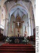 Купить «Внутреннее убранство Кафедрального Собора Непорочного Зачатия Пресвятой Девы Марии. Москва», эксклюзивное фото № 1214993, снято 27 апреля 2009 г. (c) lana1501 / Фотобанк Лори