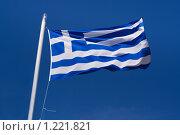 Флаг Греции. Стоковое фото, фотограф Петр Кириллов / Фотобанк Лори