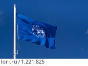 Купить «Флаг ООН», фото № 1221825, снято 22 мая 2009 г. (c) Петр Кириллов / Фотобанк Лори