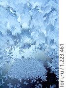 Купить «Ледяной узор на окне», фото № 1223461, снято 31 января 2009 г. (c) ElenArt / Фотобанк Лори
