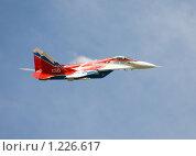 Купить «Истребитель ВВС России МИГ-29 ОВТ в полете», эксклюзивное фото № 1226617, снято 19 августа 2009 г. (c) Алексей Бок / Фотобанк Лори