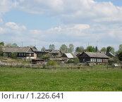 Купить «Деревня на пригорке», фото № 1226641, снято 11 мая 2008 г. (c) Анастасия Некрасова / Фотобанк Лори