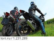 Купить «Мотоциклисты», фото № 1231289, снято 9 сентября 2009 г. (c) Losevsky Pavel / Фотобанк Лори