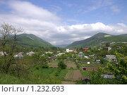 Купить «Поселок в долине», фото № 1232693, снято 6 мая 2006 г. (c) Охотникова Екатерина *Фототуристы* / Фотобанк Лори
