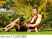 Счастливая пара. Стоковое фото, фотограф Вадим Литвиненко / Фотобанк Лори