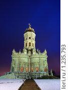 Купить «Храм Знамения в Дубровицах. Ночная съемка», эксклюзивное фото № 1235793, снято 16 ноября 2009 г. (c) Яна Королёва / Фотобанк Лори