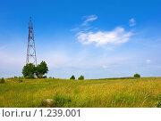 Купить «Пункт ГГС на фоне голубого неба», фото № 1239001, снято 16 июля 2009 г. (c) FotograFF / Фотобанк Лори