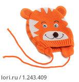 Купить «Детская шапка с мордой тигрёнка», фото № 1243409, снято 21 ноября 2009 г. (c) Руслан Кудрин / Фотобанк Лори