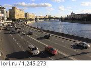 Купить «Москва, набережная», эксклюзивное фото № 1245273, снято 21 сентября 2009 г. (c) Дмитрий Неумоин / Фотобанк Лори