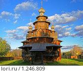 Купить «Деревянная церковь в суздальском музее», фото № 1246809, снято 10 октября 2009 г. (c) Сергей Рыбин / Фотобанк Лори