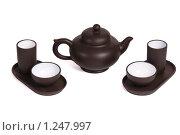 Набор для китайской чайной церемонии. Стоковое фото, фотограф Черников Роман / Фотобанк Лори