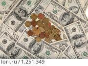 Купить «Доллары и мелочь», фото № 1251349, снято 21 ноября 2009 г. (c) Александр Секретарев / Фотобанк Лори