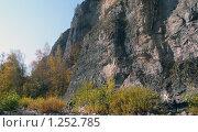 Скала и деревья в солнечный день. Стоковое фото, фотограф Дамир Фахретдинов / Фотобанк Лори
