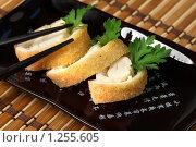 Купить «Рулет из мяса краба», фото № 1255605, снято 28 октября 2009 г. (c) ElenArt / Фотобанк Лори