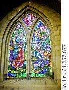 Купить «Окно-витраж в средневековой церкви, Нидерланды», фото № 1257677, снято 8 августа 2009 г. (c) Филонова Ольга / Фотобанк Лори