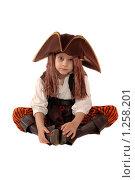 Купить «Мальчик в костюме пирата. Изолировано», фото № 1258201, снято 18 ноября 2009 г. (c) Юлия Кашкарова / Фотобанк Лори