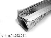 Газета на белом фоне (2007 год). Редакционное фото, фотограф Иван Коцкий / Фотобанк Лори