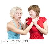 Купить «Молодые женщины ссорятся», фото № 1262593, снято 18 ноября 2009 г. (c) Яков Филимонов / Фотобанк Лори