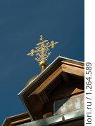 Купить «Снетогорский монастырь. Псков. Крест над входом», фото № 1264589, снято 4 июня 2020 г. (c) Окапи Вячеслав / Фотобанк Лори