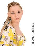 Купить «Девушка с африканскими косичками», фото № 1265889, снято 7 сентября 2008 г. (c) Валентин Мосичев / Фотобанк Лори