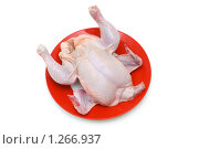 Купить «Курица на тарелке», фото № 1266937, снято 9 марта 2008 г. (c) Elnur / Фотобанк Лори