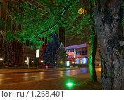 Купить «Ночные огни города Краснодара», фото № 1268401, снято 24 декабря 2008 г. (c) Андрей Емельяненко / Фотобанк Лори