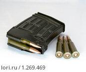 Купить «Магазин винтовки СВД с патронами», фото № 1269469, снято 8 ноября 2009 г. (c) Коротнев Виктор Георгиевич / Фотобанк Лори