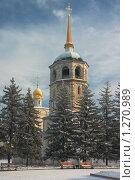Купить «Спасская церковь,1710 год, Иркутск», фото № 1270989, снято 7 декабря 2009 г. (c) Sergey / Фотобанк Лори