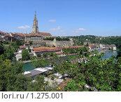 Швейцария, г. Берн, р. Ара, Кафедральный собор (2005 год). Стоковое фото, фотограф Жанна Яцук / Фотобанк Лори