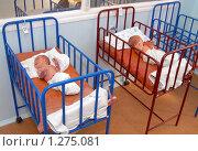 Купить «Новорожденные в кроватках», фото № 1275081, снято 25 сентября 2006 г. (c) Виктор Филиппович Погонцев / Фотобанк Лори