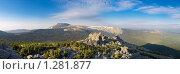 Купить «Панорама горного массива горы Большой Иремель», фото № 1281877, снято 23 мая 2007 г. (c) Рамиль Юсупов / Фотобанк Лори
