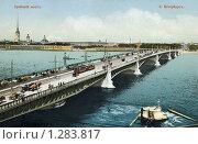 Купить «Троицкий мост», фото № 1283817, снято 18 апреля 2019 г. (c) Юрий Кобзев / Фотобанк Лори