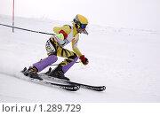 Чемпионат Мурманской области по скоростному спуску (2008 год). Редакционное фото, фотограф Артем Коржуков / Фотобанк Лори