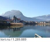 Поселок на берегу озера Анси Франция (2008 год). Стоковое фото, фотограф Семин Илья / Фотобанк Лори