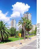 Купить «Городской вид современной  Барселоны, Испания», фото № 1290105, снято 28 августа 2008 г. (c) Vitas / Фотобанк Лори