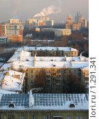Купить «Крыши под снегом», фото № 1291341, снято 15 декабря 2009 г. (c) Neta / Фотобанк Лори